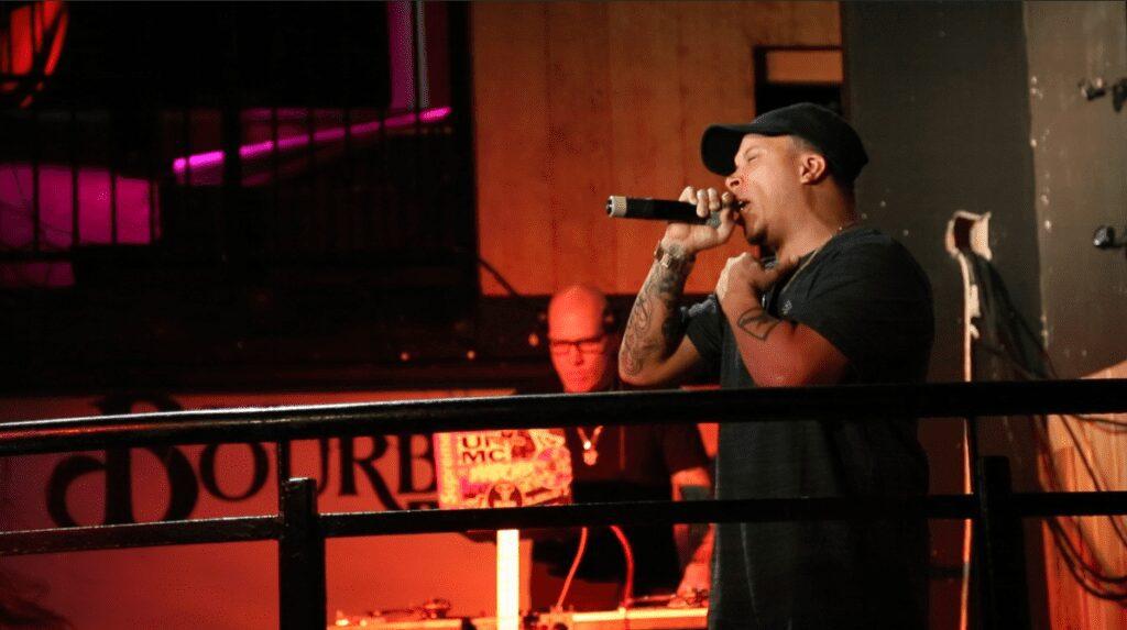 Demrick on stage