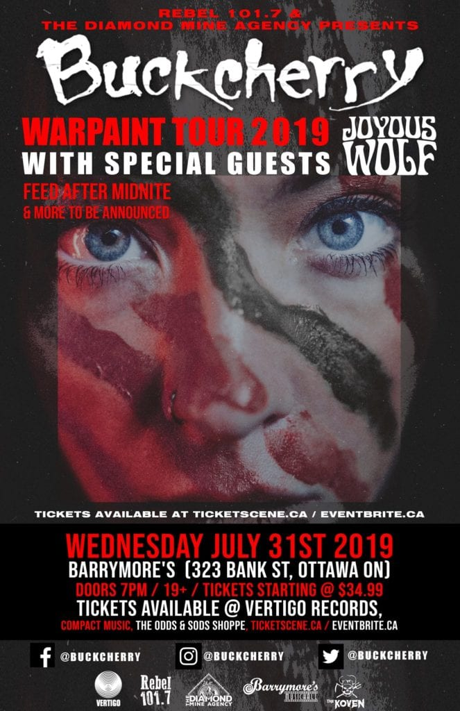 Buckcherry - Warpaint Tour Poster